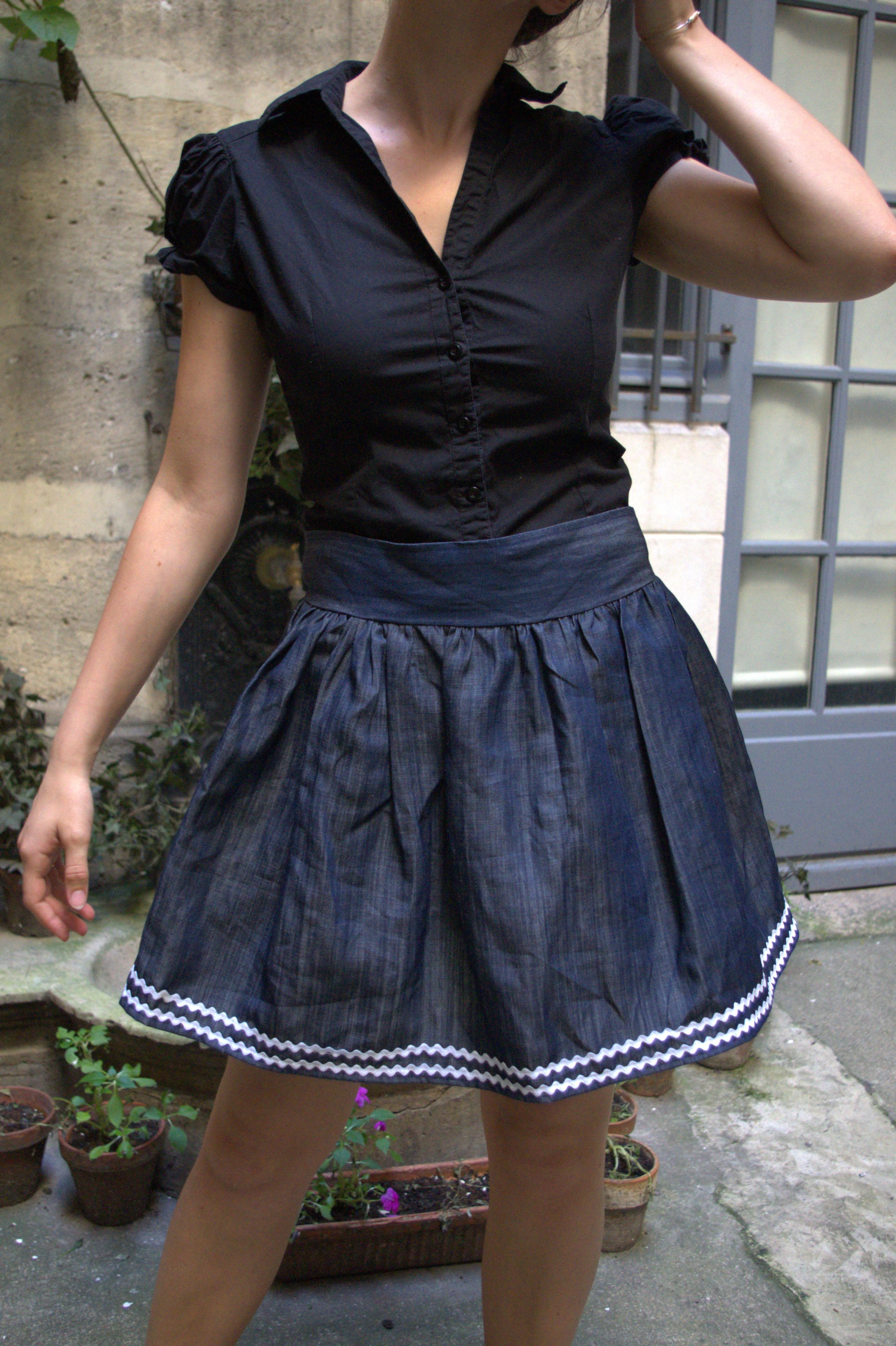 Jeter un coup d'oeil sur ma jupe