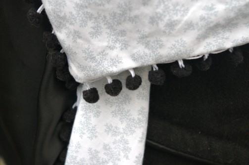 Chèche hivernal - pompons