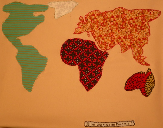 Coussin continents
