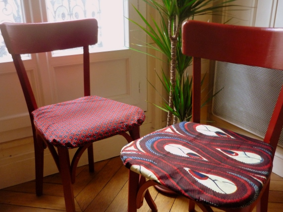 Galettes chaises wax