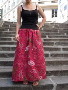 482 jupe longue wax